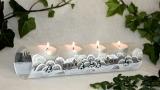 Teelichtreihe weiß