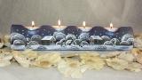 Teelichtreihe hellblau